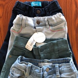 Excellent used/new jean lot 18-24 months(2T)
